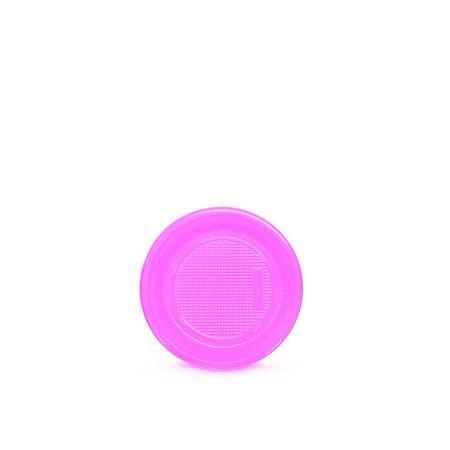 Prato Plástico Descartável | 15cm | Rosa | 10 Unidades
