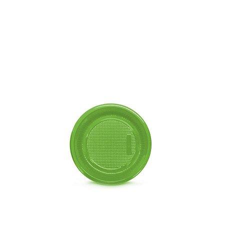 Prato Plástico Descartável   15cm   Verde Escuro   10 Unidades