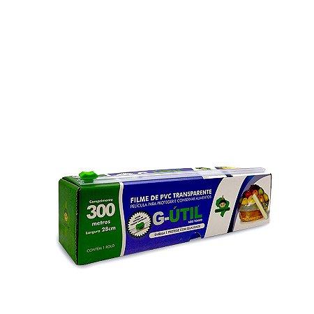 Rolinho de Plástico Filme com Caixa de Trilho Cortante   28cmx300m