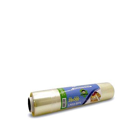 Bobina de Plástico Filme 28cmx300m | Refil para Trilho Cortante