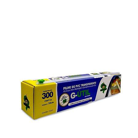 Bobina de Plástico Filme com Caixa de Trilho Cortante   38cmx300m