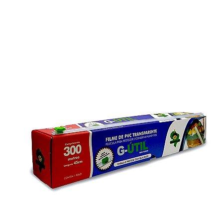Bobina de Plástico Filme com Caixa de Trilho Cortante   45cmx300m