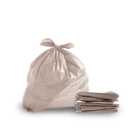 Saco de Lixo Branco   40L   Pacote com 100 Unidades