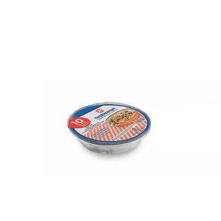 Marmitex Redonda de Alumínio Manual | N°5 | Mello | 10 Unidades