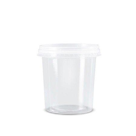 Pote Micro Redondo 1L   Orleplast   Pacote com 25 Unidades