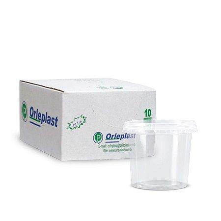 Pote Micro Redondo 250ml | Orleplast | Caixa com 500 Unidades