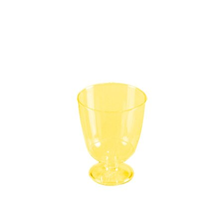 Taça Piazza Descartável 40ml | Amarela | Prafesta | Pacote com 10 Unidades