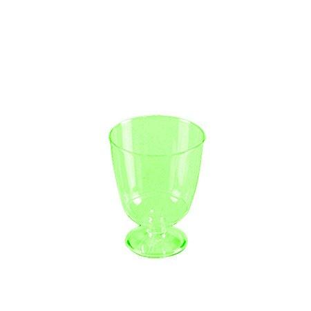 Taça Piazza Descartável 40ml | Verde | Prafesta | Pacote com 10 Unidades