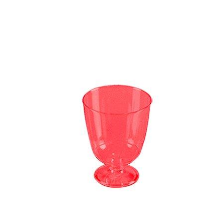 Taça Piazza Descartável 40ml | Vermelha | Prafesta | Pacote com 10 Unidades