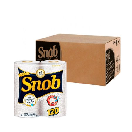 Papel Toalha | Snob | Fardo com 12 Pacotes de 2 Unidades