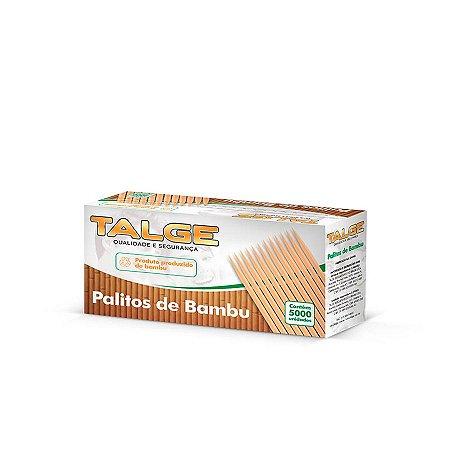 Palito de Dente de Bambu   Talge   Caixinha com 5000 Palitos