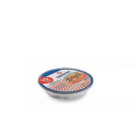 Marmitex Redonda de Alumínio Manual   N°8   Thermoprat   100 Unidades