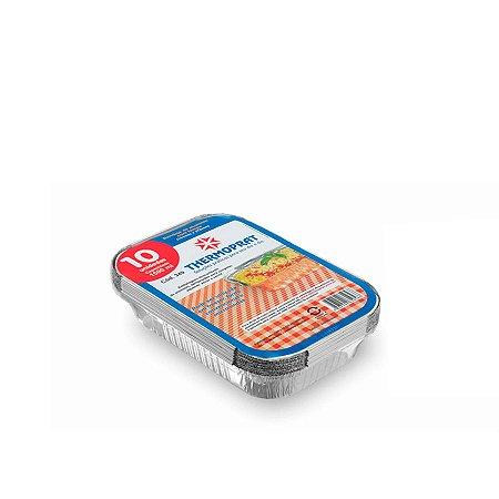 Marmitex Retangular de Alumínio 1.500ml | Thermoprat | 10 Unidades