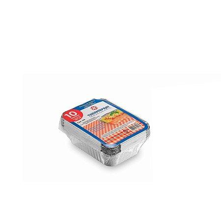 Marmitex Retangular de Alumínio 500ml   Thermoprat   100 Unidades
