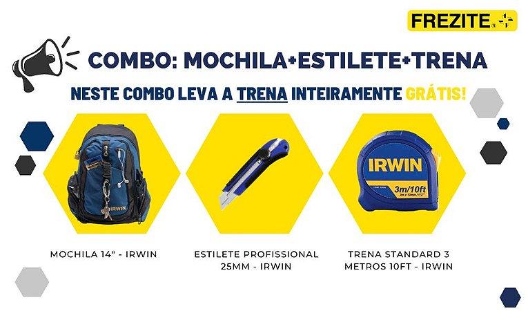 """COMBO DA SEMANA: MOCHILA 14"""" + ESTILETE PROFISSIONAL + TRENA 3M"""