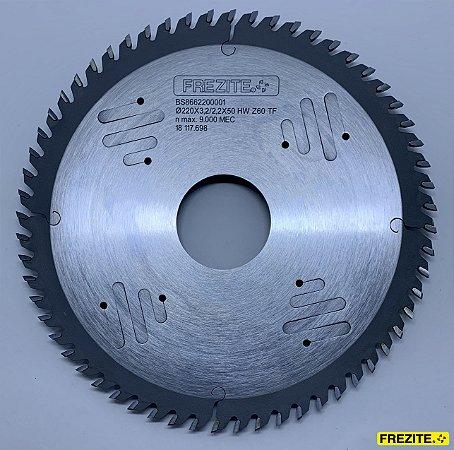 DISCO DE SERRA CIRC. 220x3,2/2,2x50 HW Z=60 TF (USIKRAFT AGILE) (BS8662200001)