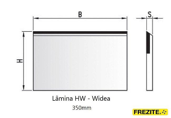 LÂMINA PARA APLAINAR EM HW - WÍDEA (350MM - ALTURA 30MM)