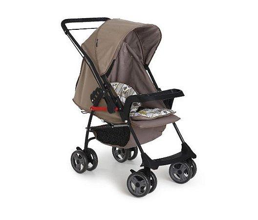 Carrinho de Bebê Milano Reversível II Preto Panda Galzerano