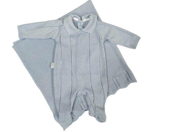 Saída de Maternidade Menino em linha 2 pçs - Fofinho (421002)