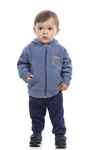 Conjunto infantil menino casaco soft + moletom Dila (15702258)
