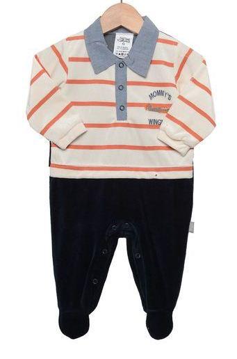 Macacão para bebê menino em plush Avião - Beka (BK267)