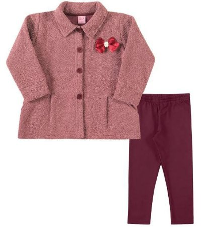Conjunto menina casaco em Tweed com legging forrada - Dila (15001189)