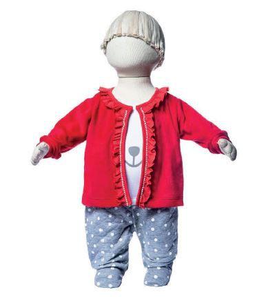Macacão longo menina com casaquinho em plush - Keko Baby (2246)