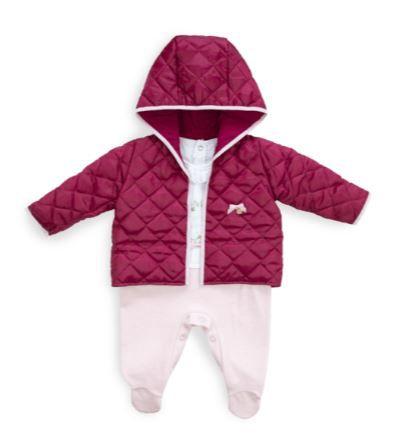 Macacão longo menina em plush com jaqueta - Keko Baby (2402)