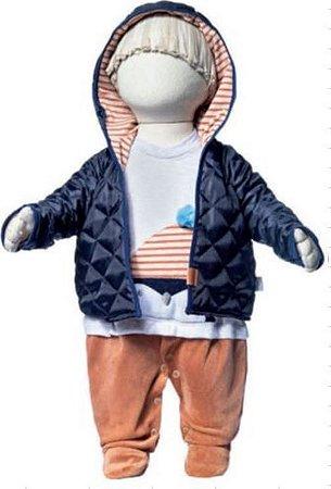 Macacão longo menino malha/plush com jaqueta - Keko Baby (2211)