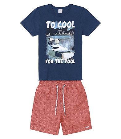 Conjunto juvenil menino tubarão