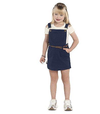 Salopete menina em sarja com blusinha Nick (1191301)