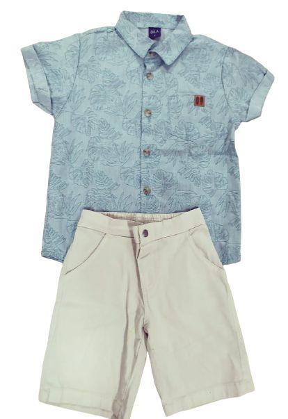 Conjunto com camisa e bermuda sarja Dila (15302123)