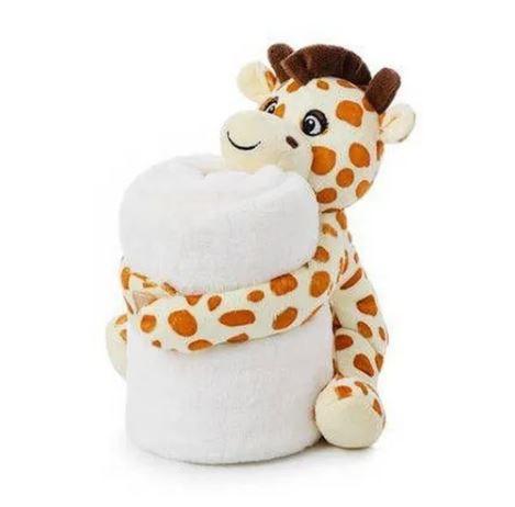 Cobertor com pelúcia Girafa em microfibra Loani