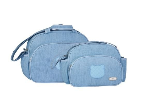 Kit de Malas Maternidade Milão Urso (rosa e azul) Lilian Baby