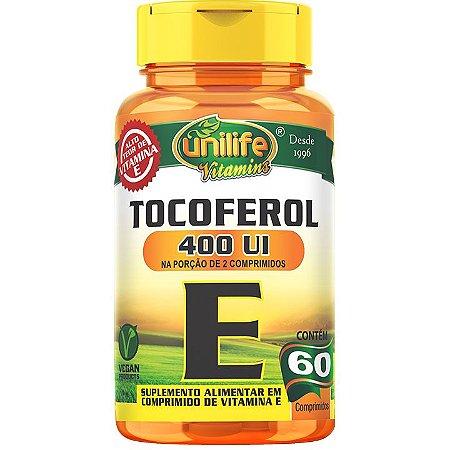 Vitamina E 60 comp  Tocoferol - Unilife Vitamins