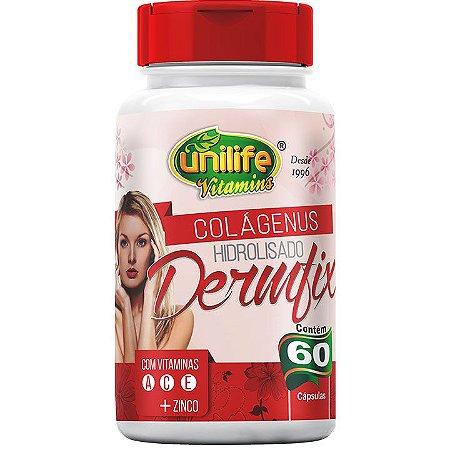 Dermfix  Colágeno Hidrolisado com Vitaminas 60 caps - Unilife Vitamins