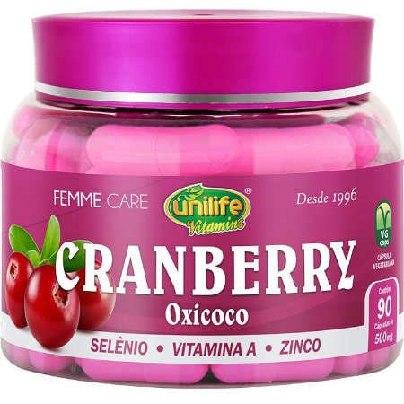 Cranberry oxicoco 500MG 90 CAPS - Unilife Vitamins