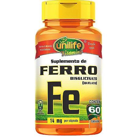 Ferro quelato 60 caps - Unilife Vitamins