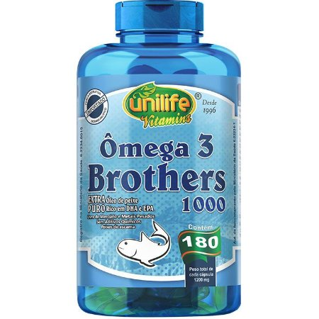 Ômega 3 Brothers 1400mg 180 caps - Unilife Vitamins