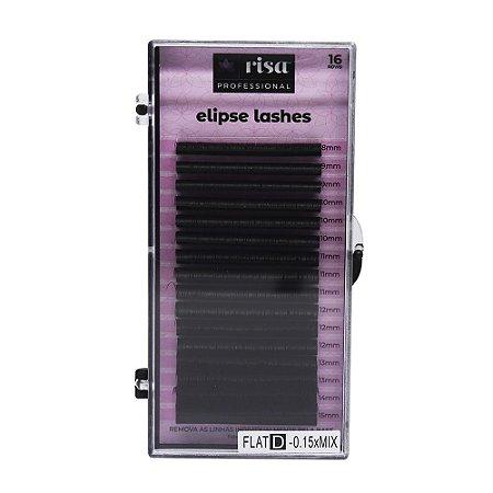 Fios para extensão Elipse 0,15mm flat D 16 linhas mix RISA