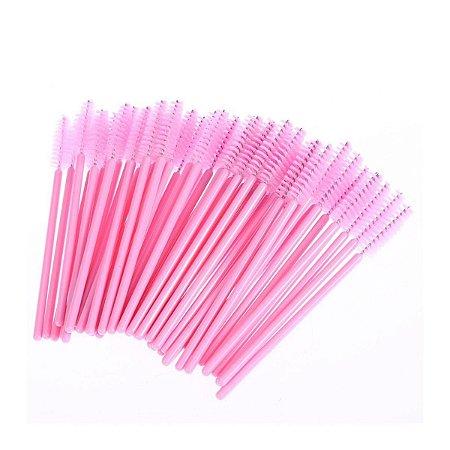 Escovinha descartável para cílios pct 50 un. Rosa