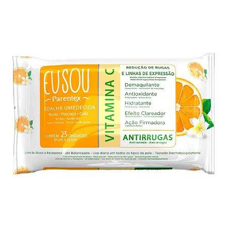 Toalha Vitamina C EUSOU com 25 Unidades
