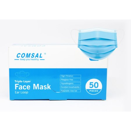 Máscara descartável Azul Vermonth c/50 un