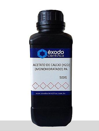 Acetato De Calcio (H2O) (Monohidratado) Pa  500G Exodo Cientifica