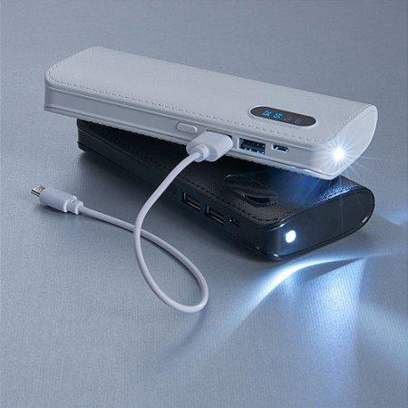 Power Bank Plástico com Indicador Digital e Lanterna - IAD02041