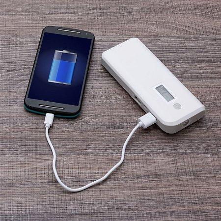 Powerbank Plástico com Indicador Digital e Lanterna - IAD12903