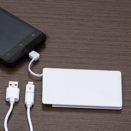 Power Bank Plástico Formato Cartão com indicador Led - IAD12984