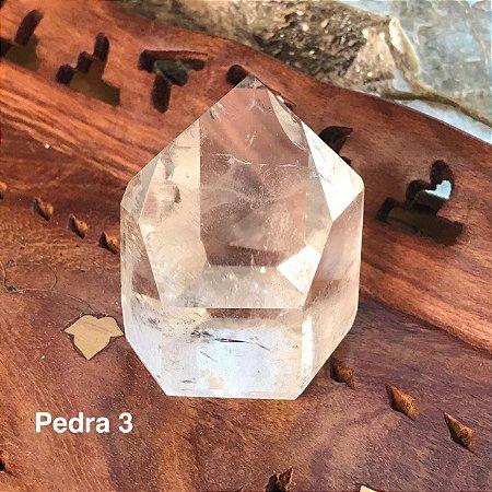Ponta de Cristal de Quartzo Polido