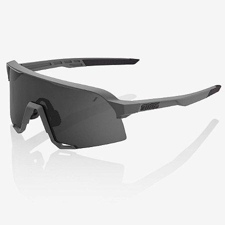 Óculos Ciclismo 100% S3 Cinza Fosco Soft Lente Fumê Original