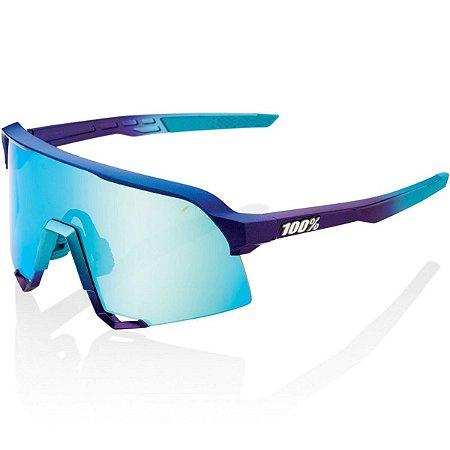 Óculos Ciclismo 100% S3 Azul Fosco Espelhado Original